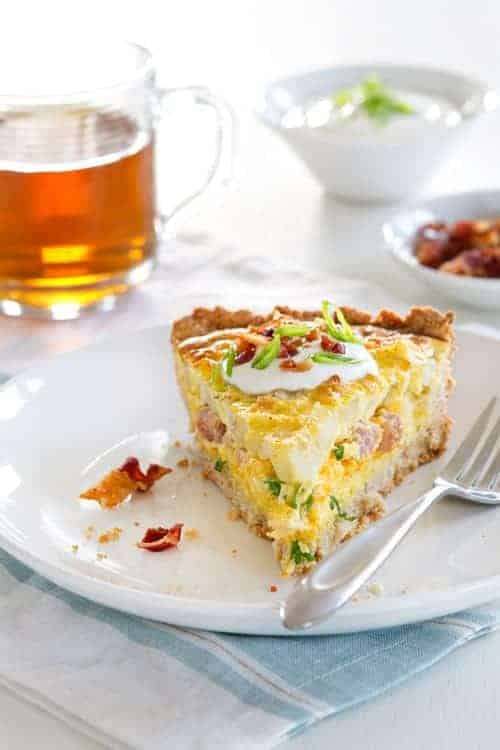 Potato quiche my baking addiction potato quiche is loaded with ham potatoes cheese and eggs making it the perfect forumfinder