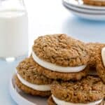 Giant Oatmeal Cream Pies have the warmth of oatmeal and cinnamon with a delicious center. Absolutely amazing.