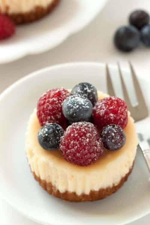 Gluten-Free Mini Cheesecakes will be a hit at your next party. Your guests will love them!