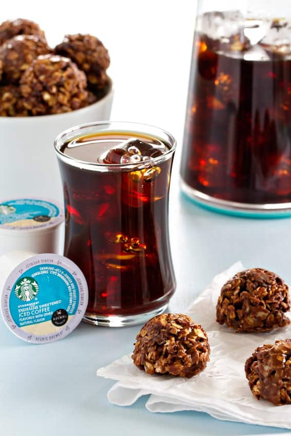 Chocolate Almond Granola Bites are so easy to make. They're perfect for an afternoon snack!