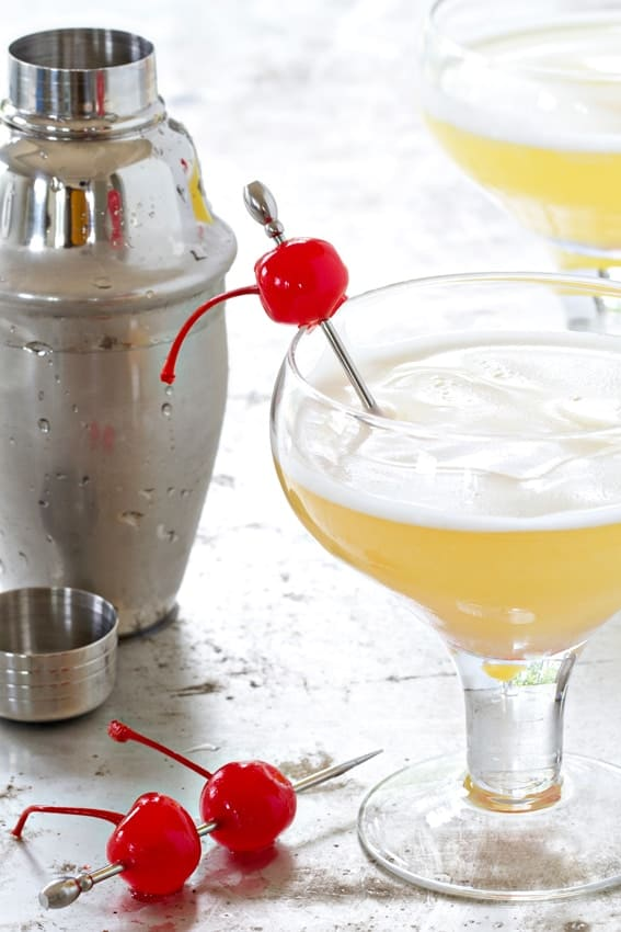 This Pineapple Upside Down Cake Cocktail is a must-make. How can you go wrong with dessert in cocktail form?