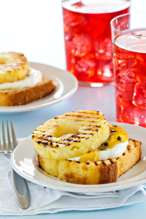 Grilled pound cake with pineapple couldn't be easier or more delicious!