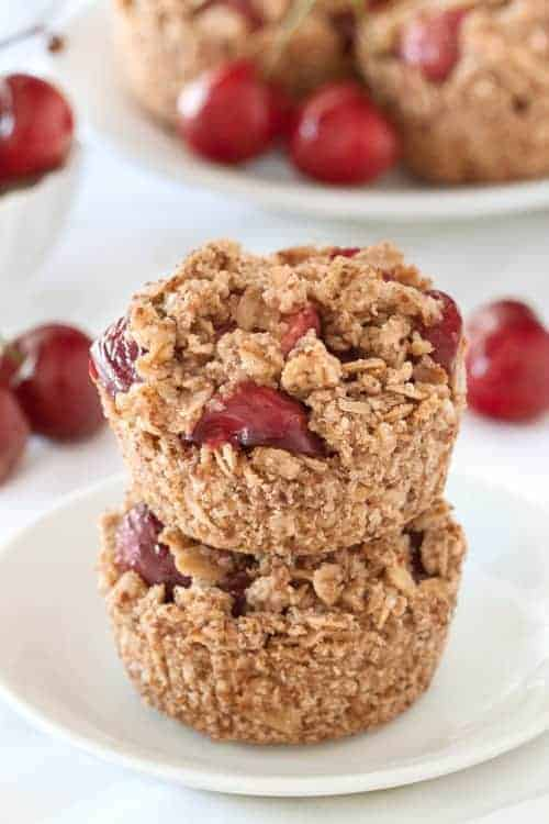 Gluten-Free Cherry Pies have an oatmeal cookie-like crust and are perfect for summer picnics! So delicious!