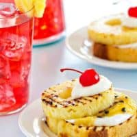 Grilled Pound Cake with Pineapple