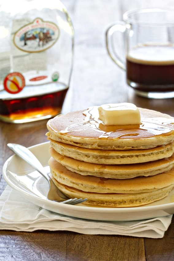 Homemade Bisquick comes together so fast and makes a perfect stack of pancakes!