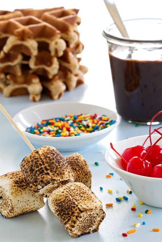 S'mores Waffle Sundaes are sure to be a summer favorite!