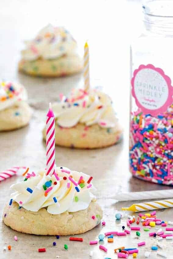 Birthday Cake Cookies allow you to have your cake and eat a cookie too. Fun!
