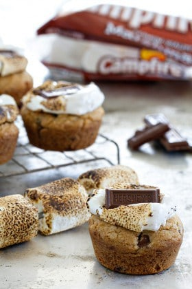 S'mores Cookie Cups are a new variation on your favorite dessert. So easy.
