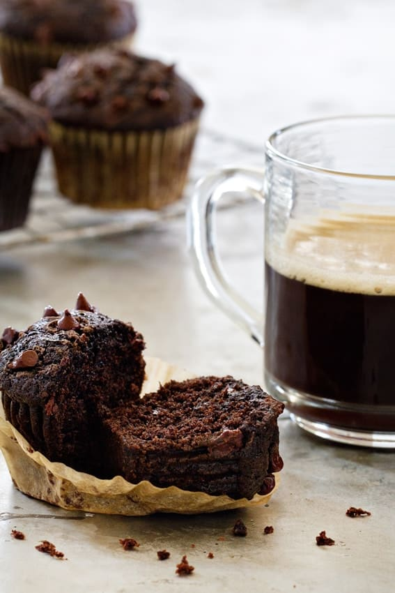 Chocolate Zucchini Muffins won't let you down. They're rich, delicious and loaded with chocolate flavor!