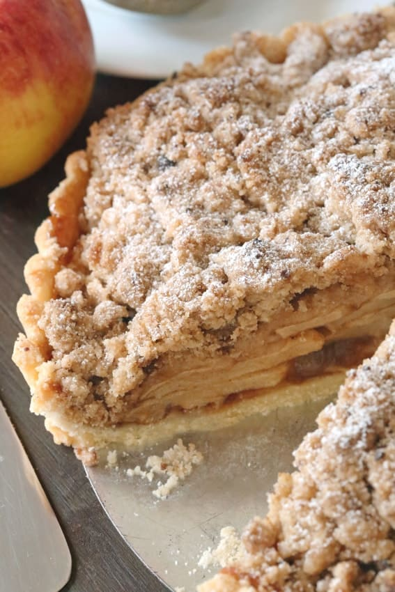 Gluten-Free Apple Tart has an amazing thick crumb topping. Seconds, please!