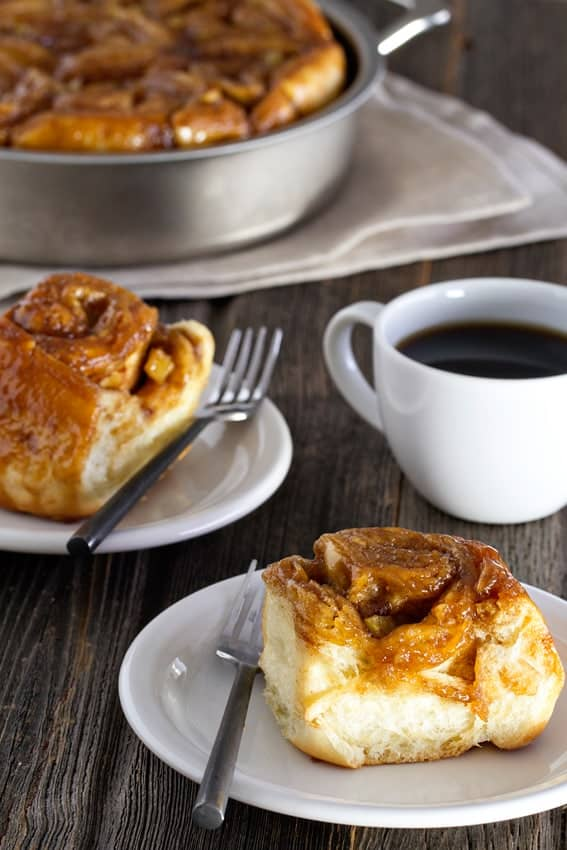 Caramel Apple Cinnamon Rolls are completely worth all the effort you put into them. Wonderful when eaten warm!