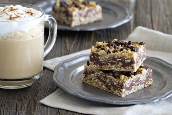 No Bake Chocolate Peanut Butter Oatmeal Bars are full of all the things you love. All in one tasty treat.