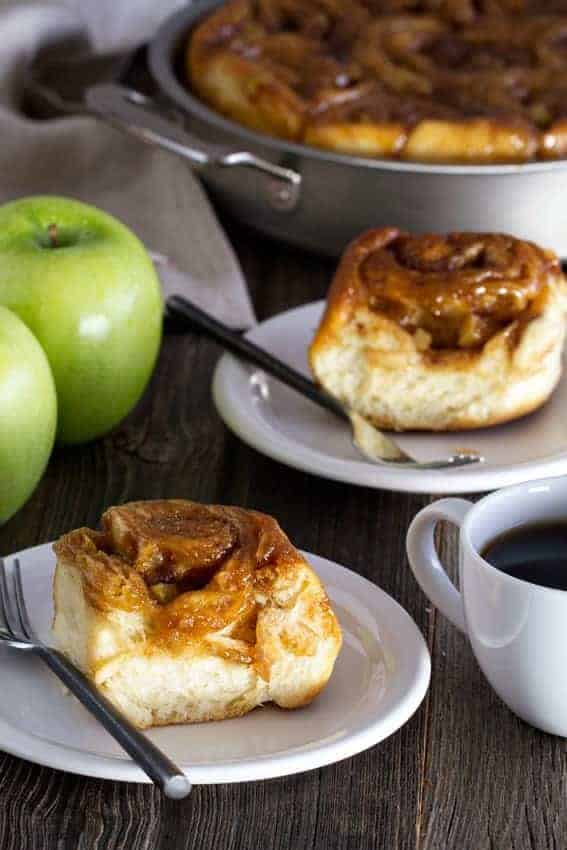 Caramel Apple Cinnamon Rolls have ooey gooey caramel on top and apples ...
