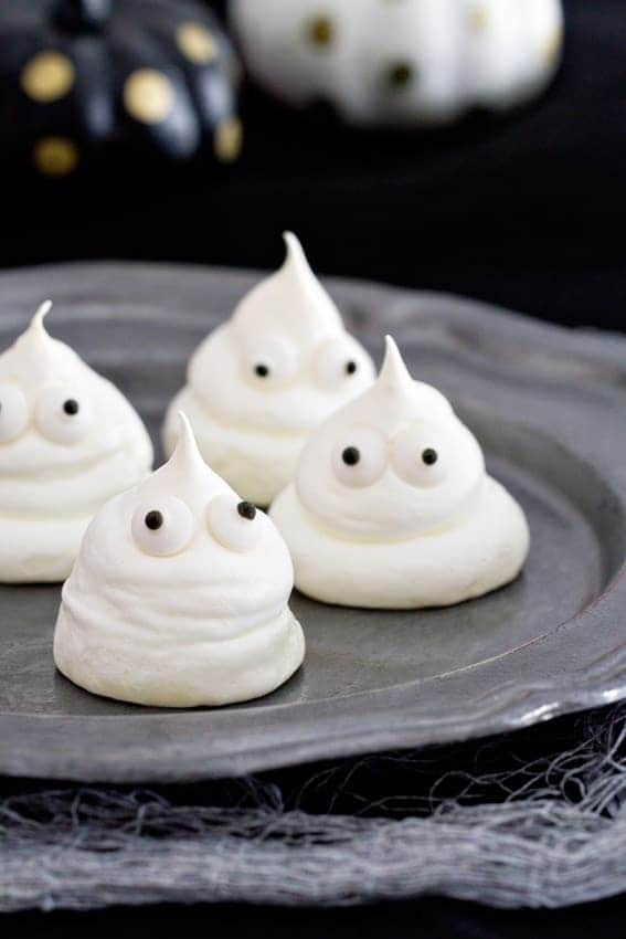 Meringue Ghosts will bring smiles to everyone this Halloween. Kids ...