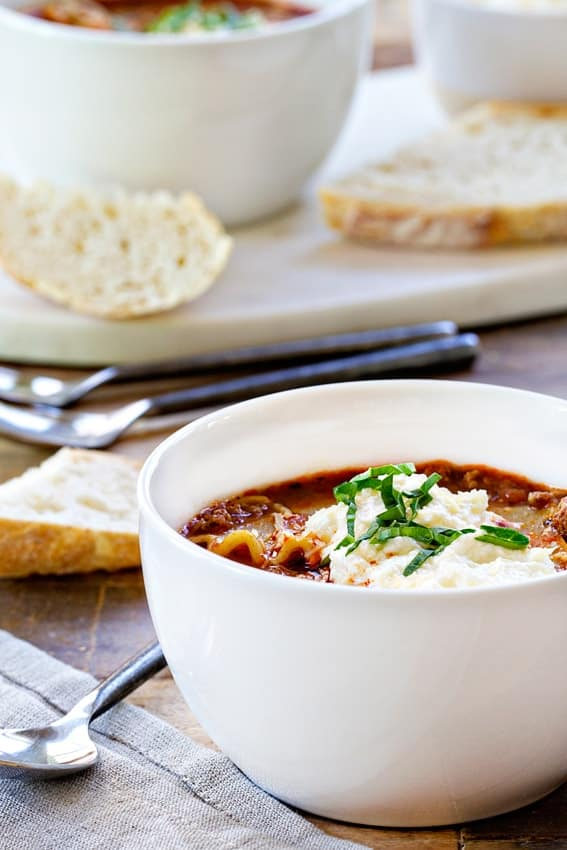 Lasagna Soup will please a crowd. They'll definitely ask for more!