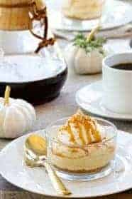 No-Bake Pumpkin Cheesecake gives everyone their very own individual serving. A delightful end to your holiday meal.