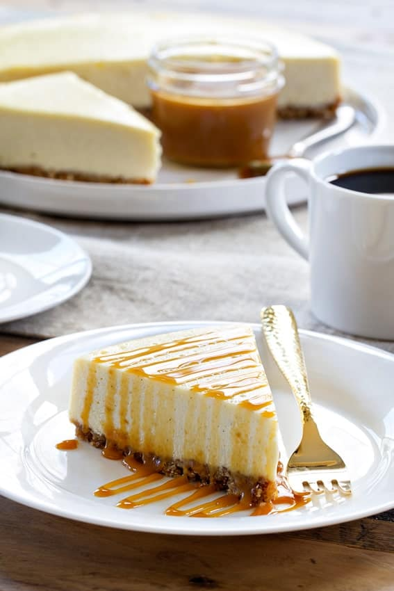 Salted Caramel Cheesecake gets its name from its homemade salted caramel sauce. Utter perfection.