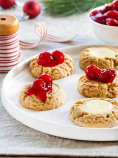 Cherry Cheesecake Cookies need to be on your table for the holidays. Let the cookie baking begin!