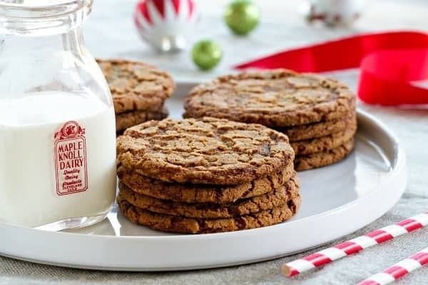 Crispy Ginger Cookies are a delicious holiday cookie. The perfect addition to any cookie platter.