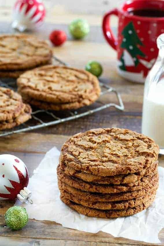 Crispy Ginger Cookies are a dream holiday cookie. So delicious!