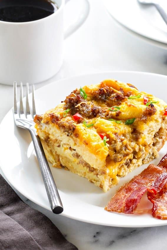 Of course make-ahead breakfast casseroles are genius. They let you knock out all the thinking and doing the day before, when you have time and space to putter.