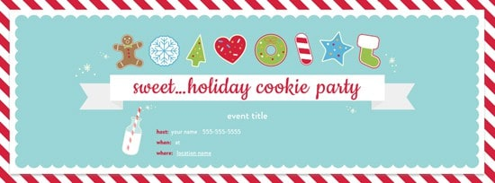Free Cookie Party invitation from EVITE. So festive!