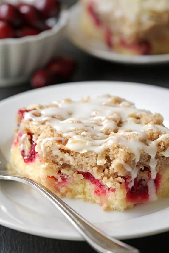 Cranberry bars are perfect for the holidays and  great with a cup of coffee. Recipe includes a gluten-free option.