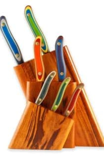 New West KnifeWorks 7-piece Tigerwood Knifeblock Set