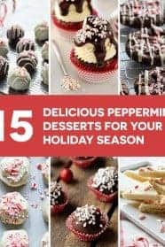 15 Peppermint Dessert Recipes for cookies, cupcakes, cakes, and candy that will make your holiday table look and taste beautiful! So festive!