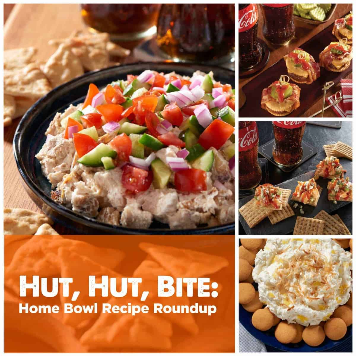 Looking for crowd-pleasing snacks for the Big Game? We've got you covered with a hand-held app, delicious dip, and even dessert! Hut, Hut, Bite!