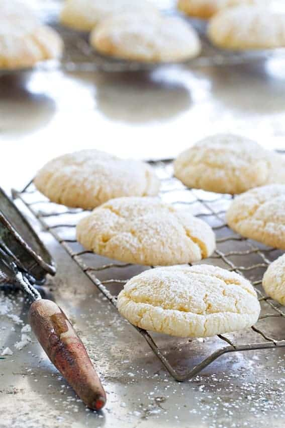 Gooey Butter Cookies start with a yellow cake mix. Combined with cream cheese, you have one amazing cookie!