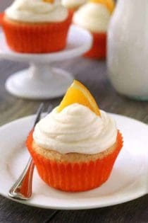 Orange Creamsicle Cupcakes are loaded with bright citrus flavor and are topped with delicious cream cheese frosting. Recipe contains a gluten-free option.