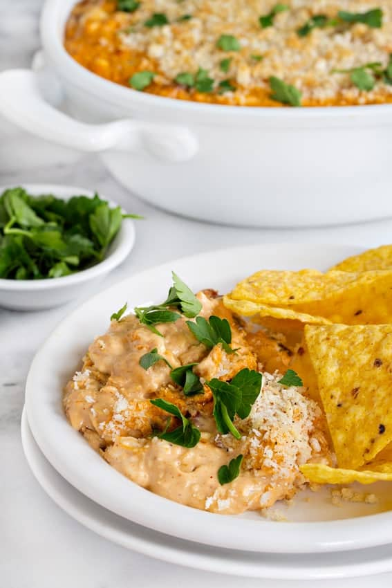 BBQ Jalapeño Popper Dip goes great with tortilla chips, crackers and even crunchy veggies. Spicy and so good.