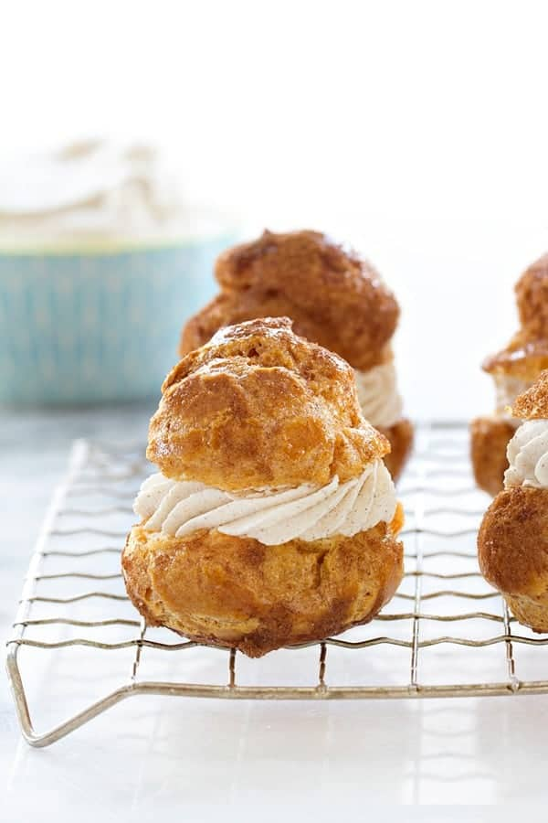 Churro Cream Puffs will bring a smile to the cinnamon sugar lover in your house. So good!