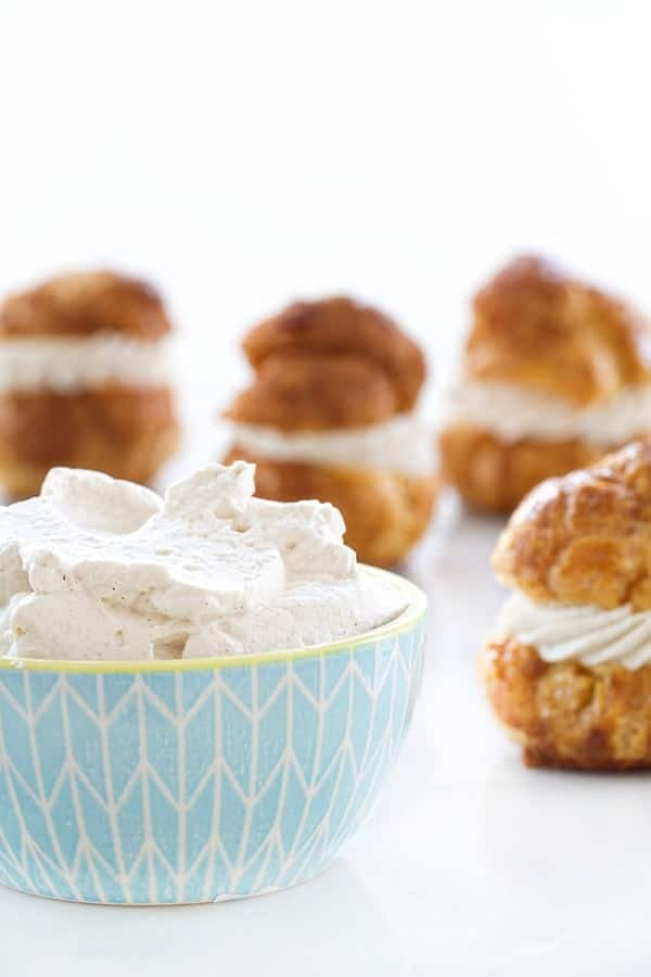 Churro Cream Puffs will delight you with their cinnamon sugar flavor. So easy!