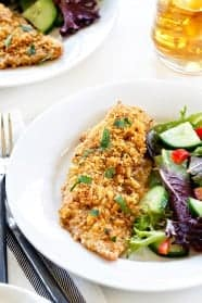 Ritz Cracker Chicken is buttery and crunchy and perfectly awesome. A must make.