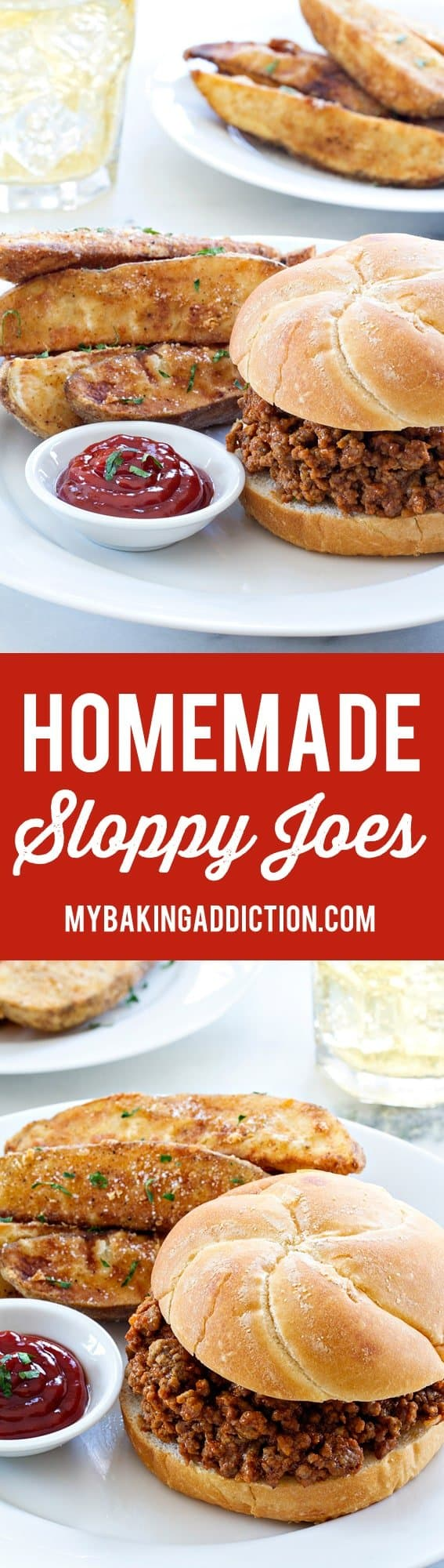 Homemade Sloppy Joes couldn't be easier or more delicious. Serve them up with a salad or homemade fires for the perfect weeknight meal!