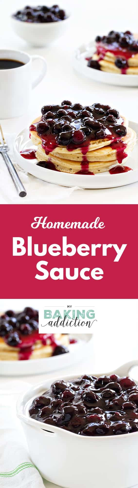 Homemade Blueberry Sauce Pin