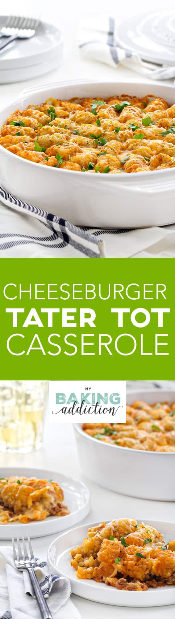 Cheeseburger Tater Tot Casserole is everything you need for a cozy winter dinner.