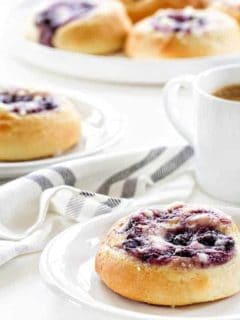 Blueberry Cream Cheese Kolaches hold a smooth and sweet blueberry cream cheese filling. One bite, and you're in love!