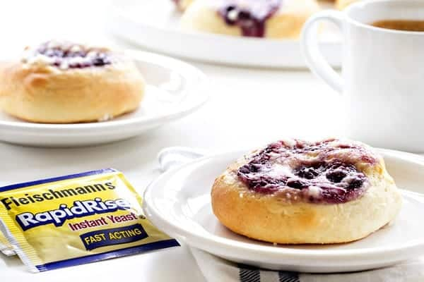 Blueberry Cream Cheese Kolaches are a sweet pastry from Central Europe. Easy enough to make in your own kitchen!