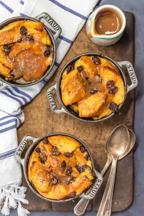 Irish Bread Pudding with Whiskey Caramel Sauce is so easy and so delicious!