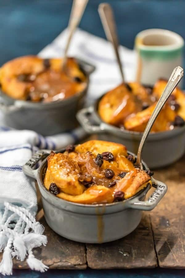 Irish Bread Pudding with Whiskey Caramel Sauce is the perfect dessert for just about any occasion. Warm, comforting and so delicious!