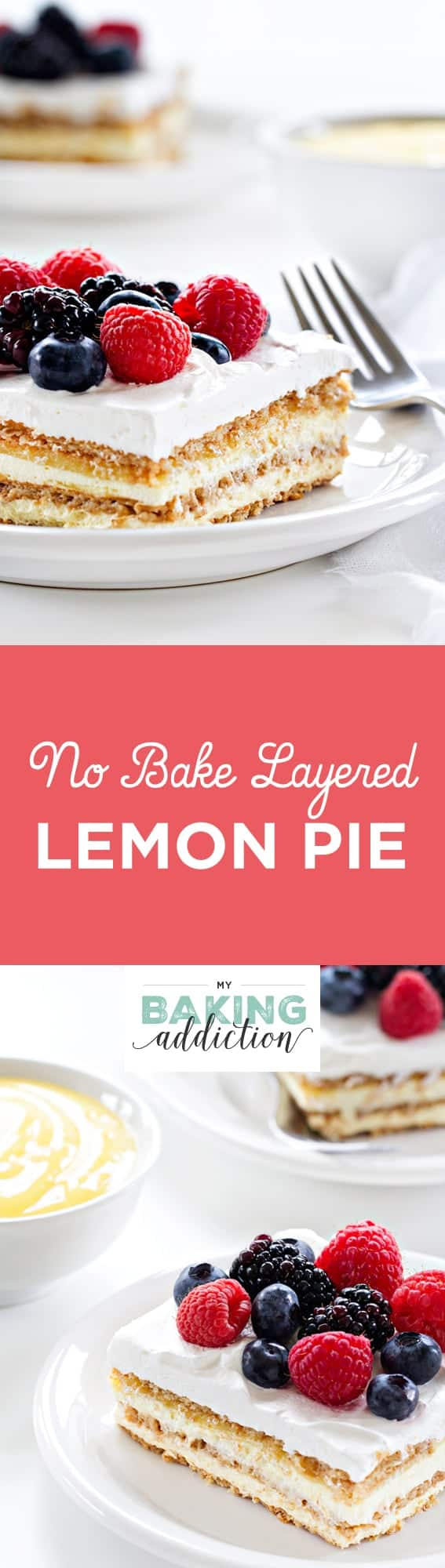 No Bake Layered Lemon Pie couldn't be easier. A great dessert for a family gathering.