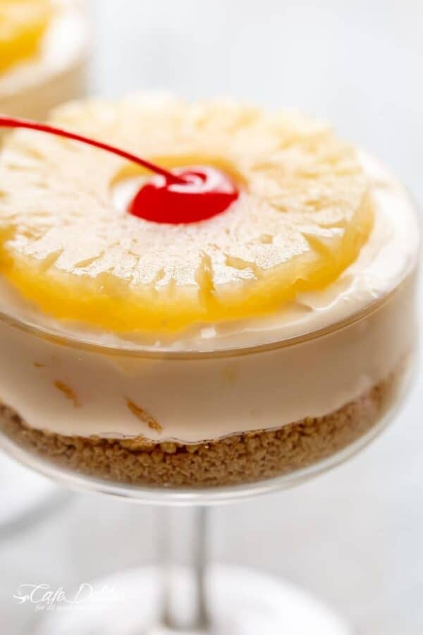 No Bake Pineapple Cheesecake gives you a sweet taste of pineapple in every bite. So good!