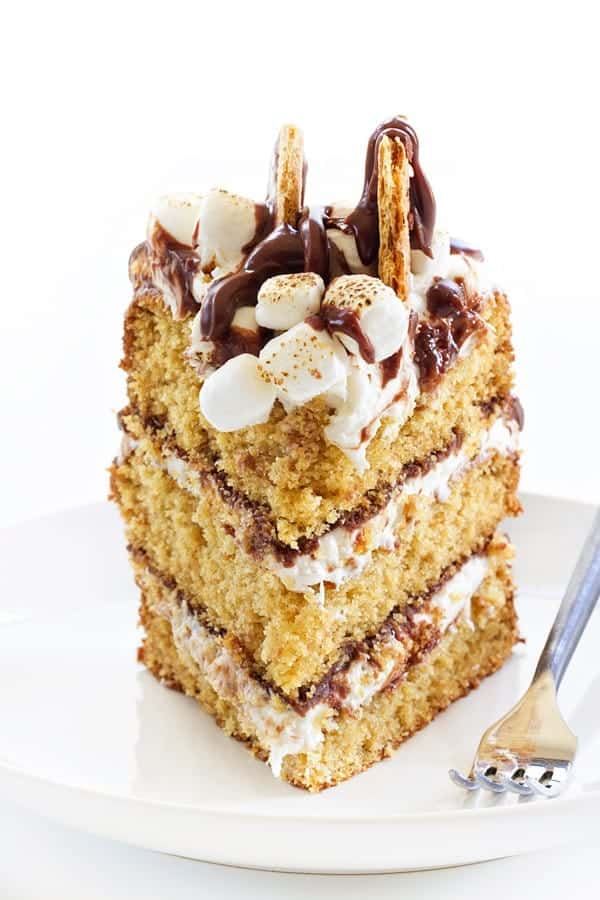 S'mores Cakes has all the flavors and textures of your campfire favorite - in cake form. We absolutely loved this cake and are convinced it will become one of your new favorites!