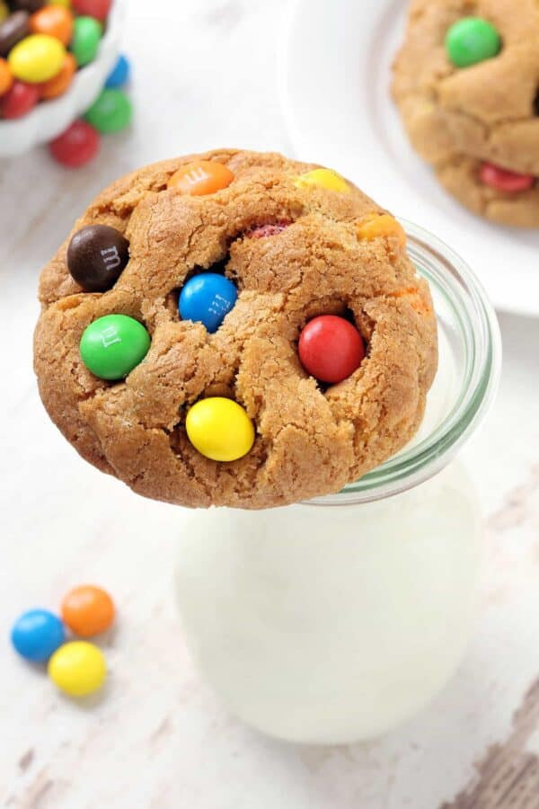These soft and chewy M&M Cookies are incredibly delicious. Everyone will be begging for more! Recipe contains a gluten-free option.