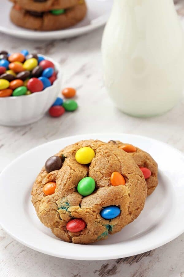 M&M Cookies are loaded with yummy M&M's. They're soft, chewy and sure to become your new favorite recipe! Recipe contains a gluten-free option.