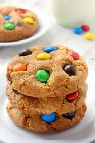 M&M cookies are soft, chewy and loaded with M&Ms! They're sure to become a family favorite! With a gluten-free option.