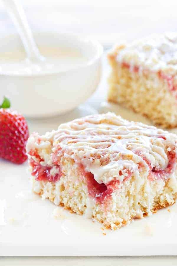 Strawberry Rhubarb Coffee Cake combines some of your favorite spring ...